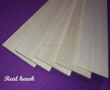 10pcs 600x100x0.75/1/1.5/2/2.5/3/4/5mm AAA+ Model Balsa wood sheets for DIY RC model wooden plane boat material