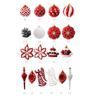 52pcs/lot Christmas Tree Decor Ball Bauble Xmas Party Hanging Ball Ornament Decorations For Home Christmas Decorations Gift