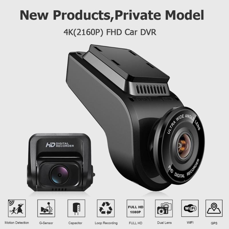 "Image 3 - VODOOL T691C Mini 2"" 4K 2160P/1080P FHD Car DVR Dash Cam Camera 170 Degree Lens Car Video Recorder WiFi GPS Night Vision Dashcam-in DVR/Dash Camera from Automobiles & Motorcycles"