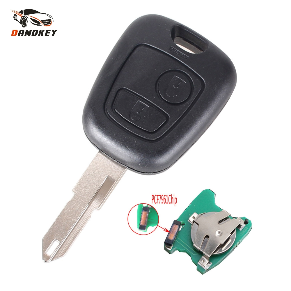 Dandkey 10PCS LOT 2 Buttons Remote Car Key For Peugeot 206 306 405 433MHz Transponder Key