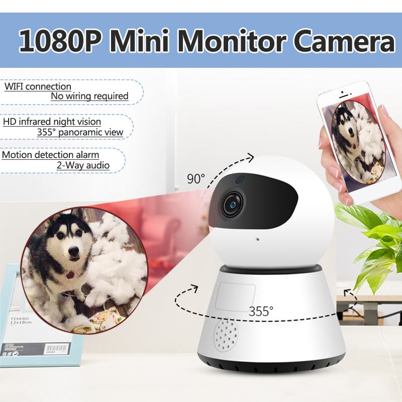 1080P HD Wireless WiFi Home Security IP Camera Surveillance Camera Night Vision Cam Baby Monitor Two Way Audio CCTV IP Camera1080P HD Wireless WiFi Home Security IP Camera Surveillance Camera Night Vision Cam Baby Monitor Two Way Audio CCTV IP Camera