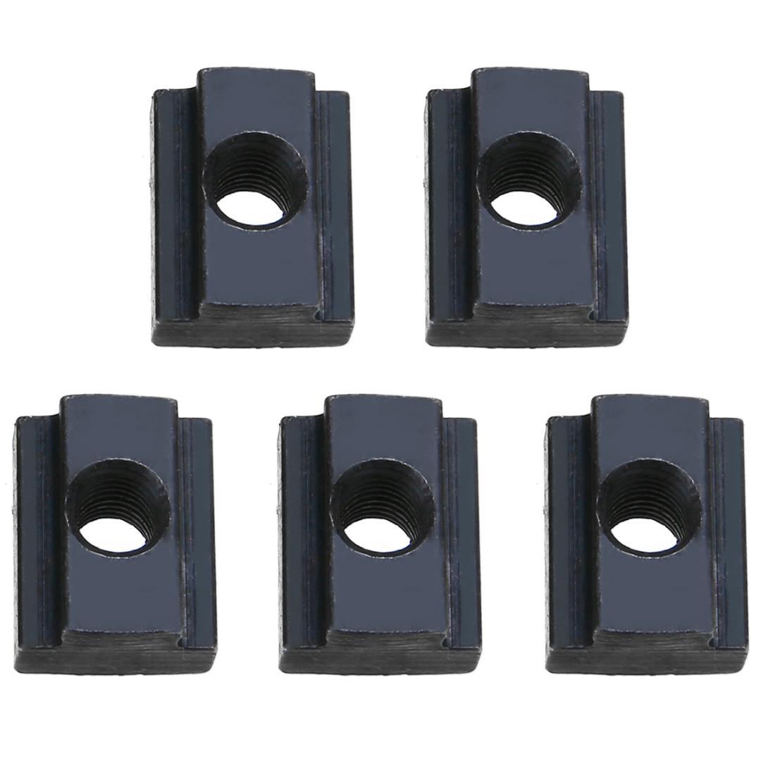 5 pcs Finish T Slot Nuts M8//10 Threads Fit Into T-slots In Machine Tool Tables