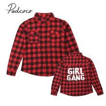 Mother Daughter Matching Buffalo Red Plaid Shirt