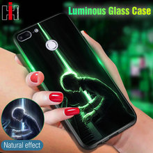 Luminous Glass Phone Case On For Huawei P Smart Mate 10 20 Lite P20 P10 Lite Nova 3 7S 7C Honor 7A 9 Lite 10 8X Play Back Cover(China)