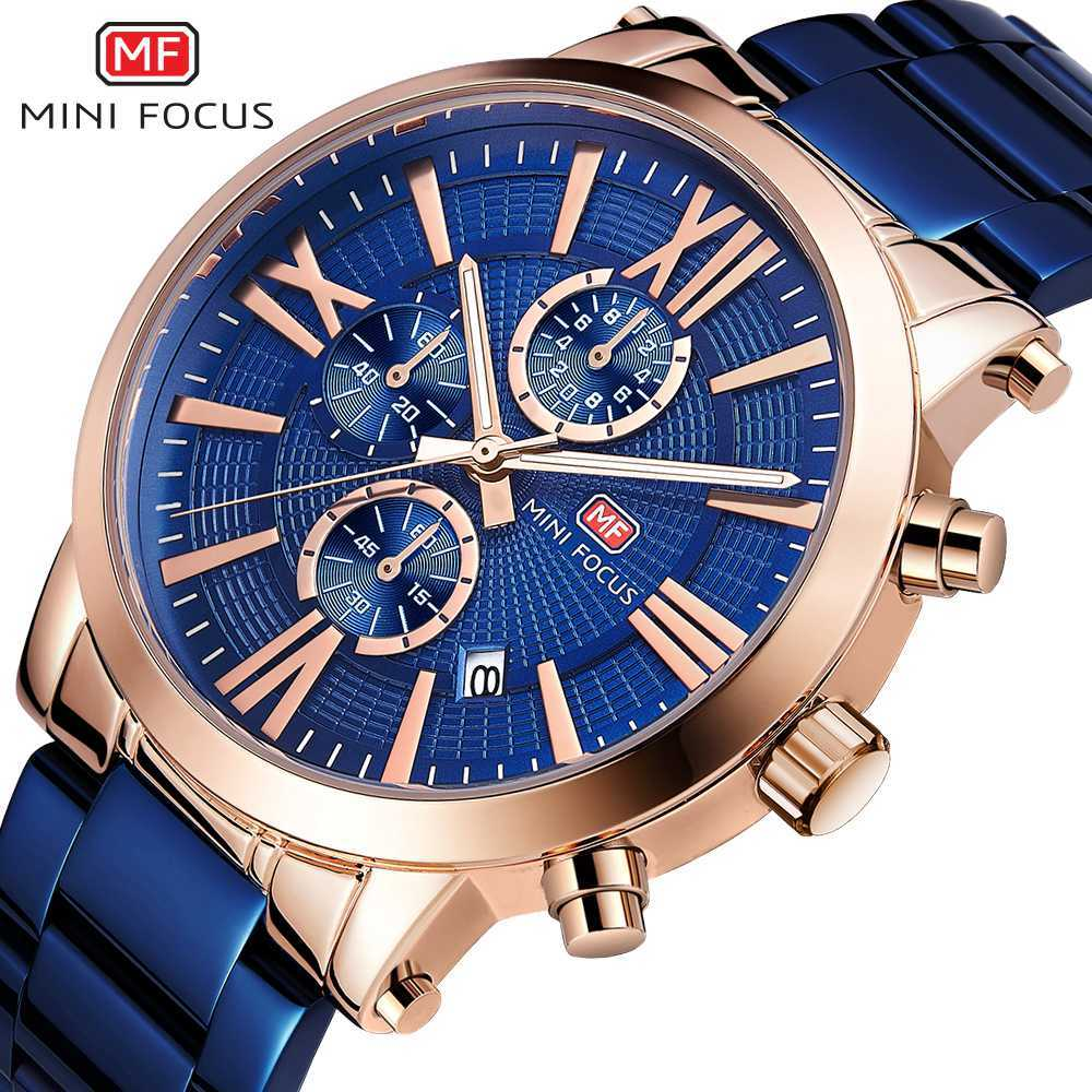 MINI FOUCS Fashion Sport Watch Chronograph Men Watch Waterproof Calendar Quartz Watch For Men Luxury Casual Military Clock Male|Quartz Watches| |  - title=