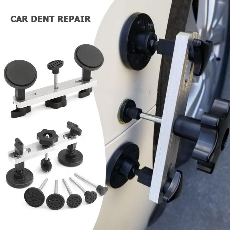 7pcs Fix Dent Repair Tool Kit Instrument Paintless Auto Car Body Damage Pulling Bridge Removal Glue Tab Tool Hand Tool Set