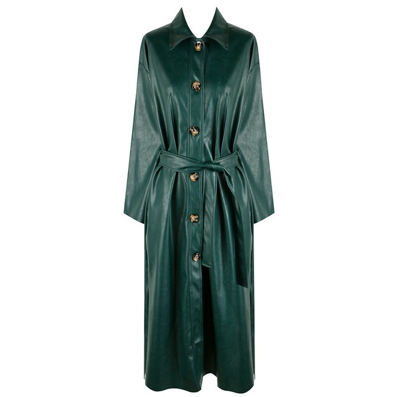 De Mode Automne 2018 Green Trench Long Twotwinstyle Dentelle Vintage eIW9H2YbED