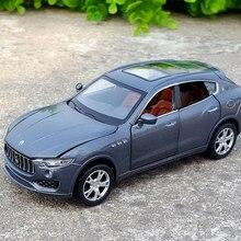 1:32 Масштаб Литой Сплав металла роскошная модель автомобиля SUV для Maserati Levante Коллекция Модель 6 дверей открытые игрушки автомобиль