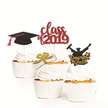 2019 NEW Graduation Season Cake Decoration Card Doctor Hat Book Party Supplies Festival Birthday