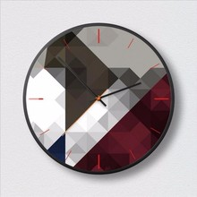 New 3D Big Wall Clock Geometric Fashion Modern Design Minimalist Nordic Clocks Decorative