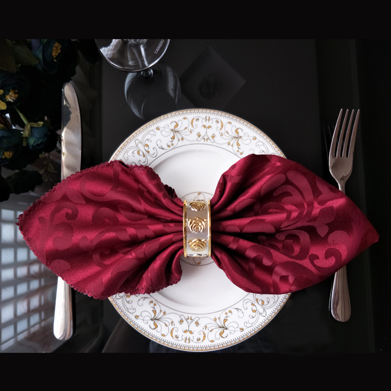 YRYIE 10pcs/lot Polyester 48cm Square Table Cloth Napkins For Wedding Birthday Decoration Colored Napkin Fabric Embroidered
