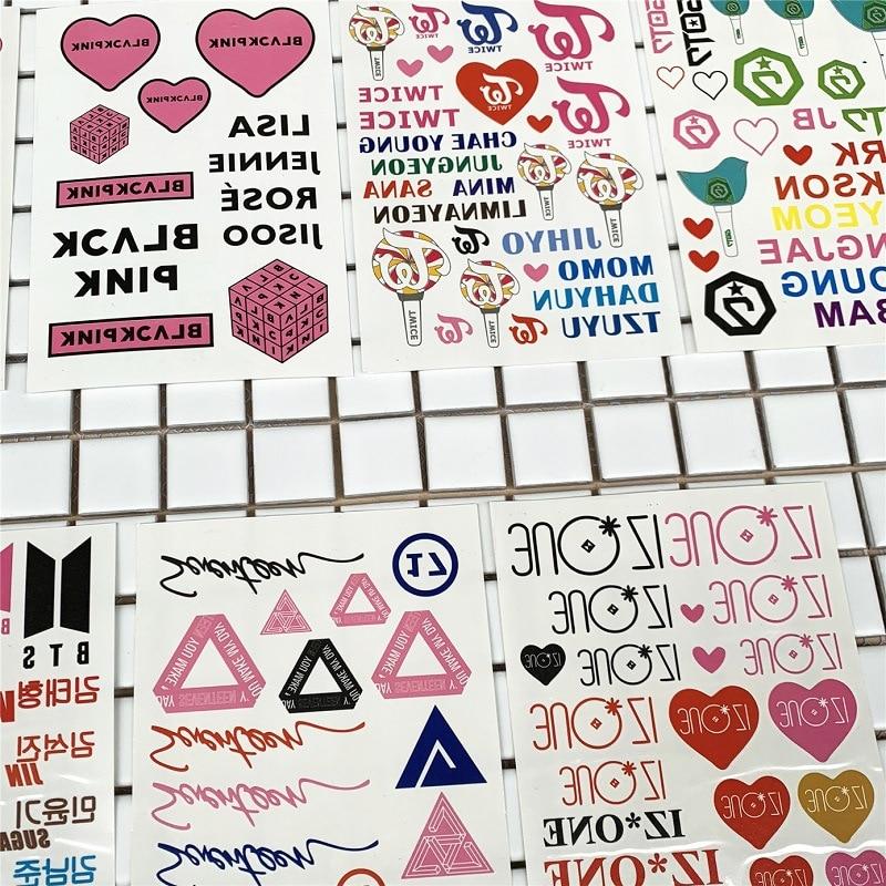 Stickers Competent 10 Sheets/lot Got7 Stickers Idol Blackpink Izone Twice Seventeen Kpop Tattoo Sticker Fans Gift Party Supplies