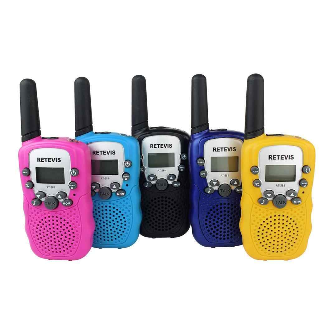 Portable Mini Kids Walkie Talkies 22-Channel FRS/GMRS Radio 3km Range Mini Two Way Radios with Flashlight and LCD Screen Gift