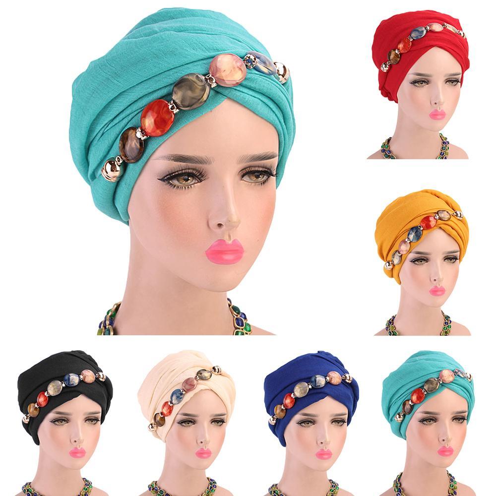 Women Pendant Jewelry Necklace Scarf Hijab Collar Scarves Wrap Ethnic Muslim Turban Long Scarf Islamic Bandanas Headscarf New