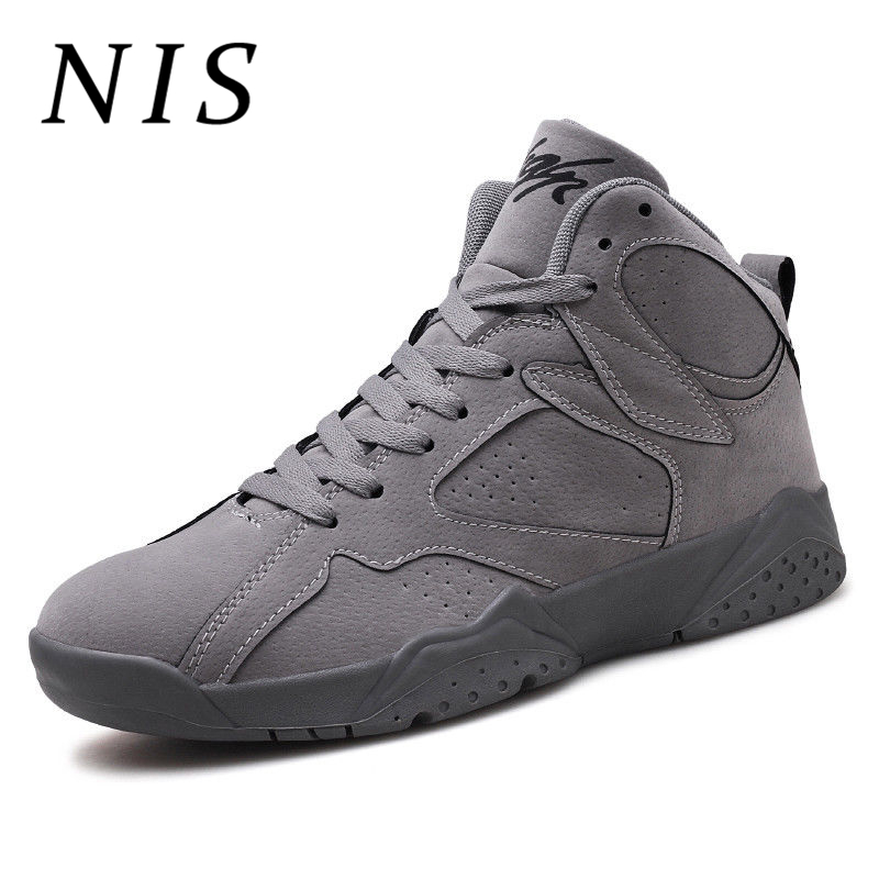 NIS Men High Top Sneakers Men Sport Running Basketball Shoes Spring Autumn Breathable Sneakers Men's Vulcanize Shoes Size 39 44