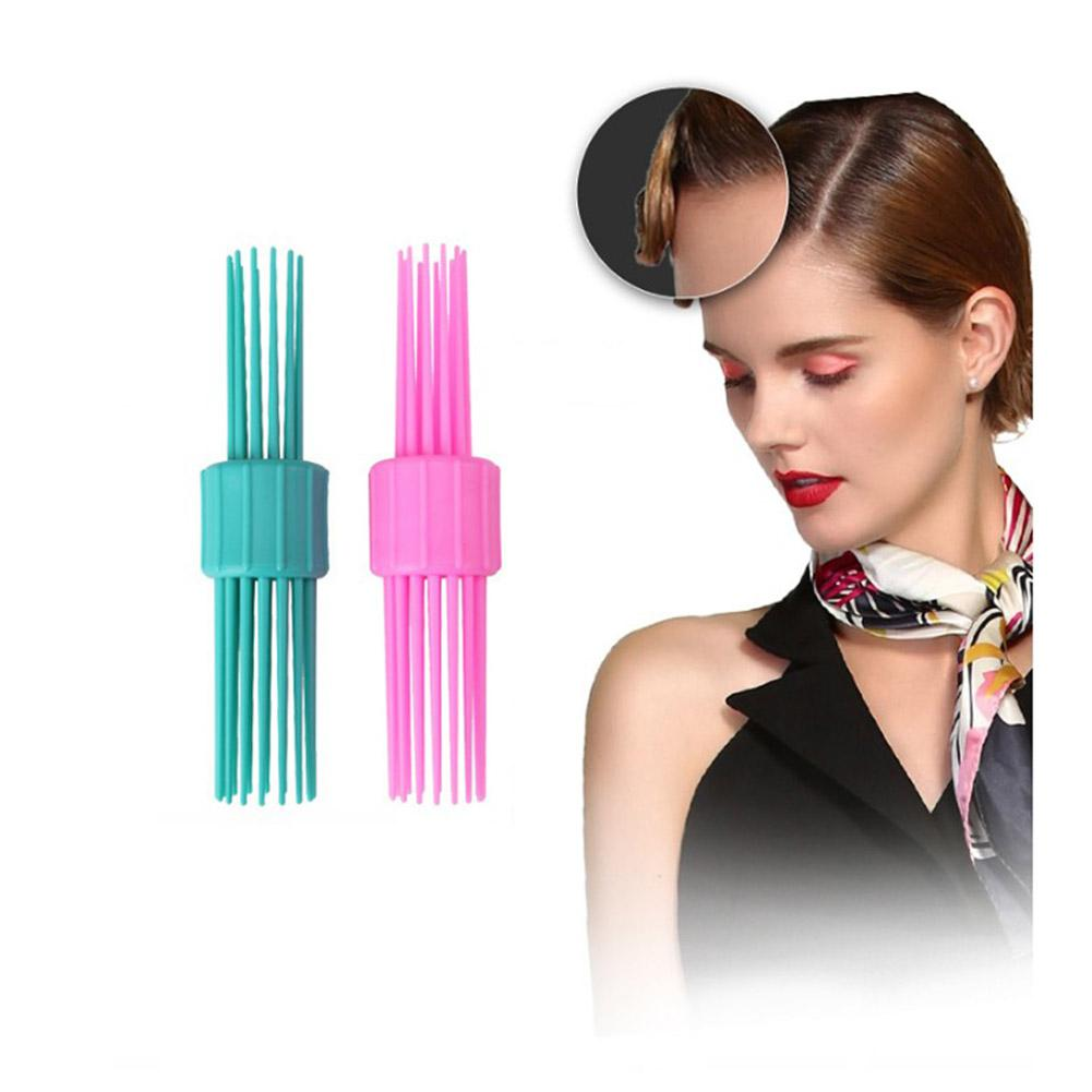 BellyLady Vintage Rolling TP Hair Style Comb Double Head Hairbrush Pinned Curl Roll Bang Stand-up Roll Brush Hairstyle Tool