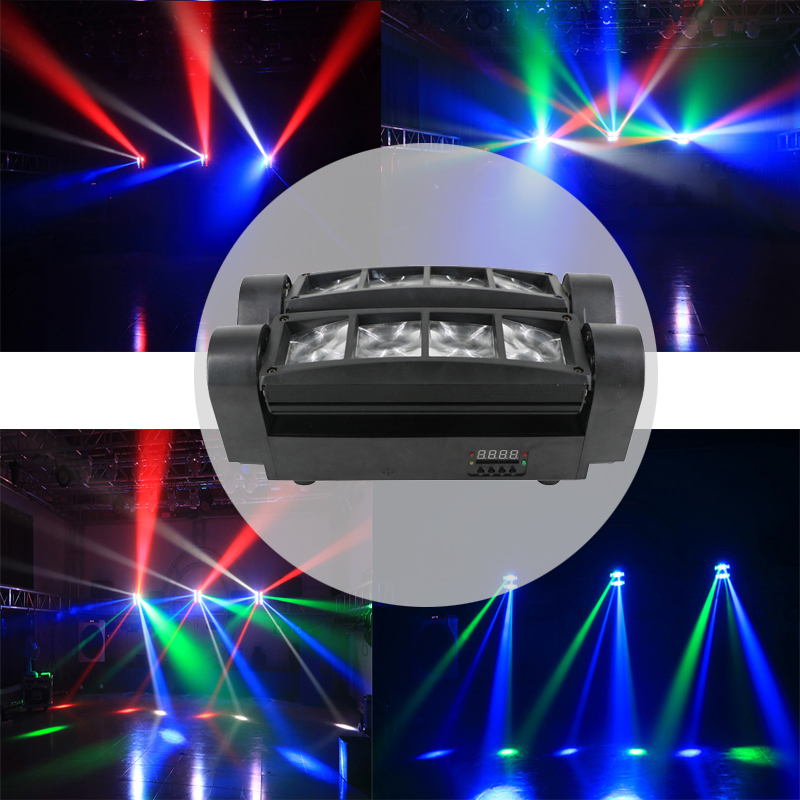 Image 2 - stage 8X10W Mini LED Spider Light DMX512 LED Moving Head Light RGBW LED Beam light Club Dj Disco projector-in Stage Lighting Effect from Lights & Lighting