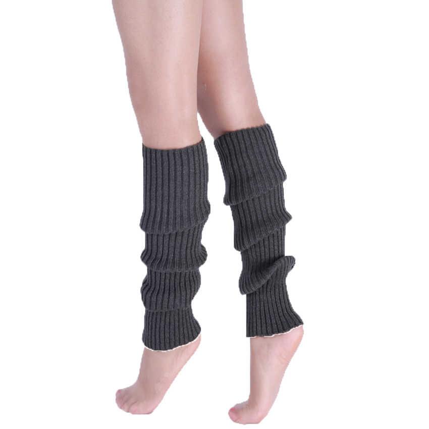 Diz Yüksek Bacak Isıtıcıları Kadınlar Neon Elastik Uzun Örgü Kış Örgü kızlar Moda Bayan Isıtıcı Dans Katı Çorap Çorapları Legwarmers