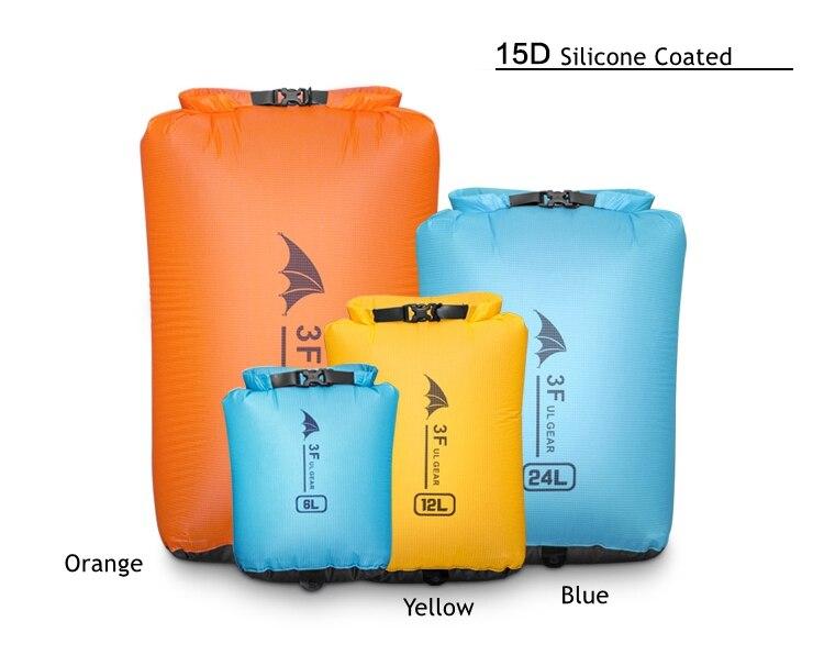 New 12L Black Waterproof Lightweight Dry Sack Bag for Climbing Rafting Canoeing