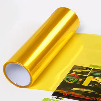120*40cm Gold Yellow Smoke Headlight Taillight Fog Light Vinyl Film Tint Wrap Car Headlight Film carcardo 40cm x 200cm car headlight taillight tint vinyl film sticker car smoke fog light viny stickers decals car styling