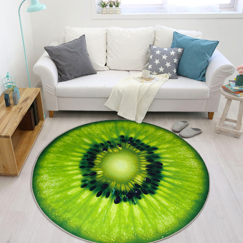 HD 3D Fruit Printed Carpet for Living Room Soft Crystal Velvet Parlor Kids Bedroom Chair Rugs Bathroom Non-slip Mat tapetes