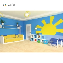 Laeacco Cartoon Chairs Childen Kindergarten Backdrop Photography Backgrounds Customized Photographic For Photo Studio
