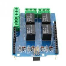 Portable 4-Way 5V Relay Module Control Expansion Board Plate On-board Relay with Indicator Lamp for Electric Toy