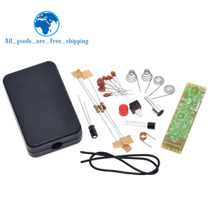 FM Frequency Modulation Wireless Microphone Module 70-110MHz 1.5V Transmitter Board Parts Kits Electronic Suite + Shell DIY Kit