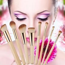 New Fashion Women Makeup Powder Blush Brushes Cosmetic Make Up Bamboo Set 8pcs