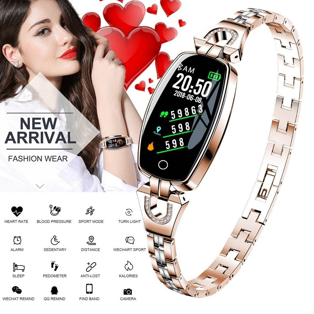 H8 Smart Watch Women Waterproof watch Heart Rate Monitoring Bluetooth For Android IOS Fitness Bracelet Girl Lady Smartwatch