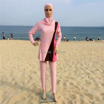 478f3e691 Nuevo musulmán conservador traje protector solar islámica de baño Baño  musulmanes natación ropa de playa