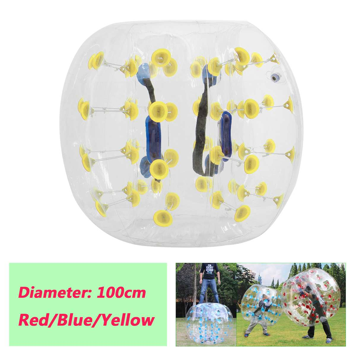 Air Bubble Soccer 0.8mm PVC 100cm Air Bumper Ball Body Zorb Bubble Ball Football Bubble Soccer Kids Outdoor Toys Gift