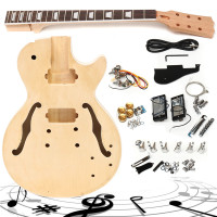 DIY Electric Guitar Kit Basswood Unfinished Basswood Body Neck Builder Set Handmade Stringed Instrument For Beginner Child New