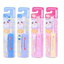 Cartoon Waterproof Kids Electric Sonic Toothbrush Head Ultrasonic Vibrating Teeth Brush Soft Bristle Kids Electric Toothbrush kids sonic electric toothbrush colorful led lighting waterproof soft brush heads bristles teeth oral care pink or green