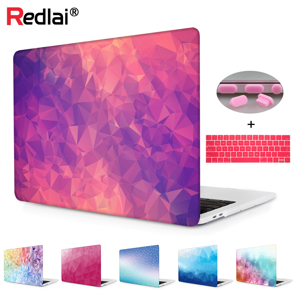 "Laptop computer Case For Apple Macbook Air Professional Retina 11 12 13 15 For New Mac A1932 Professional 13 15"" With Contact Bar Geometric Print Onerous Cowl"