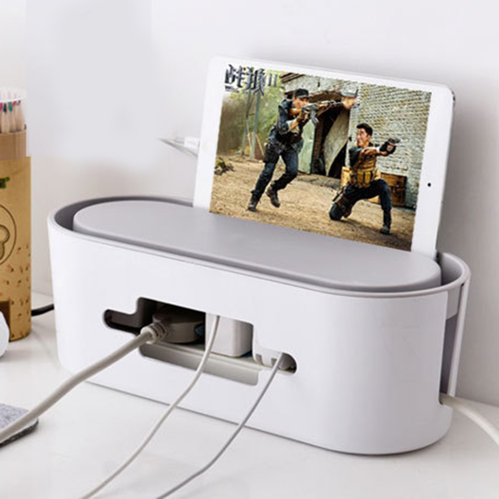 Home living room multi function cable storage box power ...