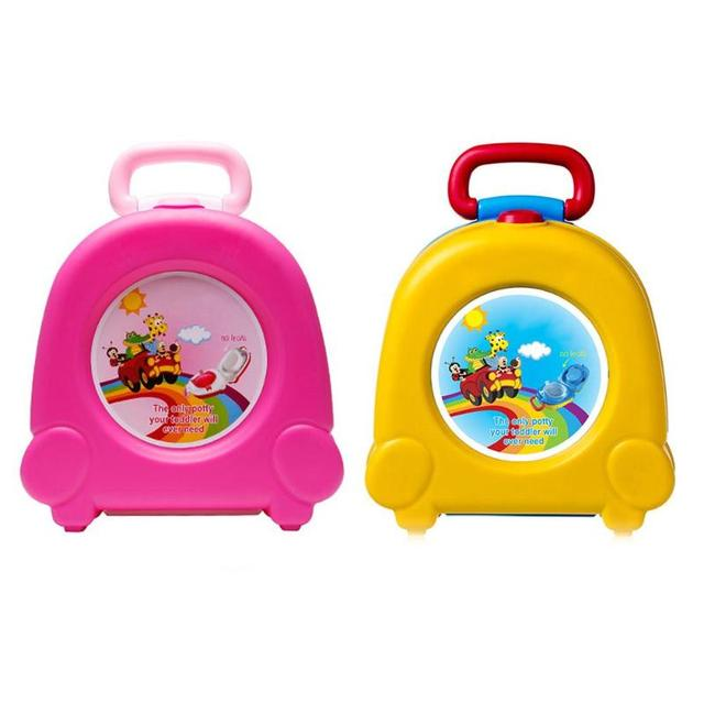 Cute Baby Toilet Portable Travel Car Infants Potty Chair Training Educational Children Pot Folding Seat Outdoor Squatty Potty | Happy Baby Mama