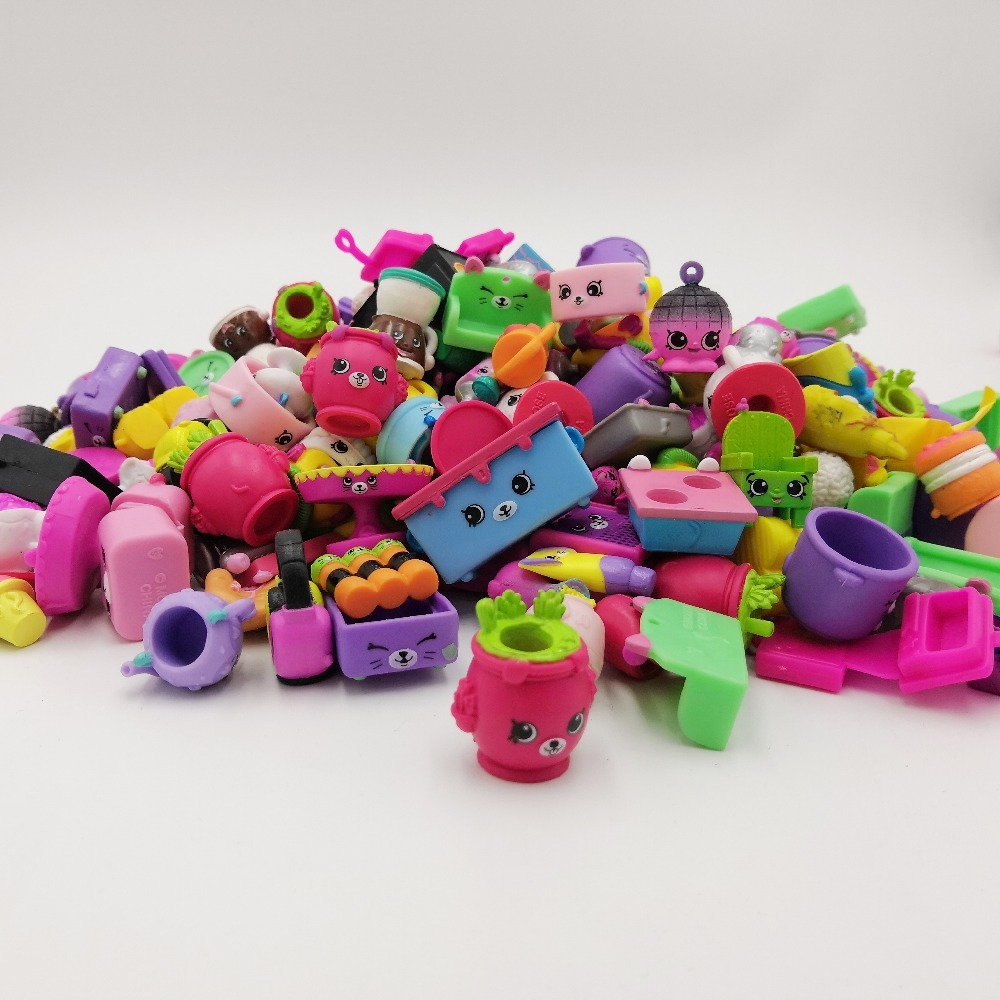 Hot Sale Christmas Gift Shopkins-Season Rubber Toys 10-400 Pcs Send By Not Repeating Best Gift For The Shopkins Children