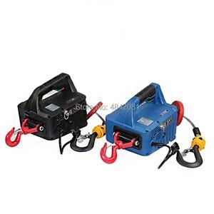 Image 5 - Cabrestante eléctrico portátil, 500KG, 7,6 M, tres en uno, bloque de tracción manual, cable de acero, elevador de cuerda