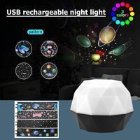 LED Night Light USB Projector Moon Lights Children Room Projection Lamp