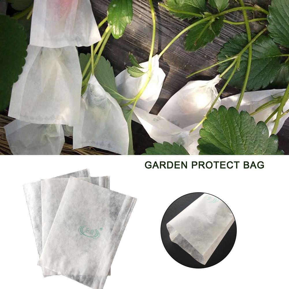 100pcs Garden Plant Fruit Protect Drawstring Net Bag Against Insect Pest Bird