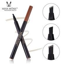 MISS ROSE 4 Heads Fork Fine Make up Eyebrow Pencil Tattoo Pen Waterproof Long Lasting