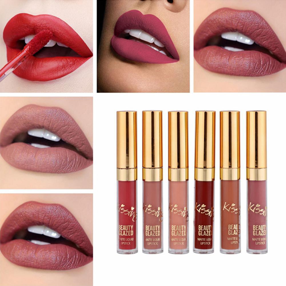 XY Phantasie 6 teile/satz Matte Lippenstifte Wasserdicht Langlebige No-fading Flüssigkeit Lip Gloss Lippenstift Lip Make-Up Geburtstag Edition
