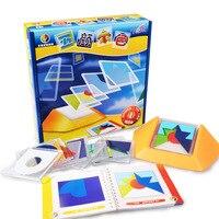 100 Mücadelesi Renk Kodu yap-boz oyunları Tangram Jigsaw Kurulu Bulmaca Oyuncak Çocuk Çocuk Geliştirmek Mantık Mekansal Akıl Yürütme Becerileri Toy50