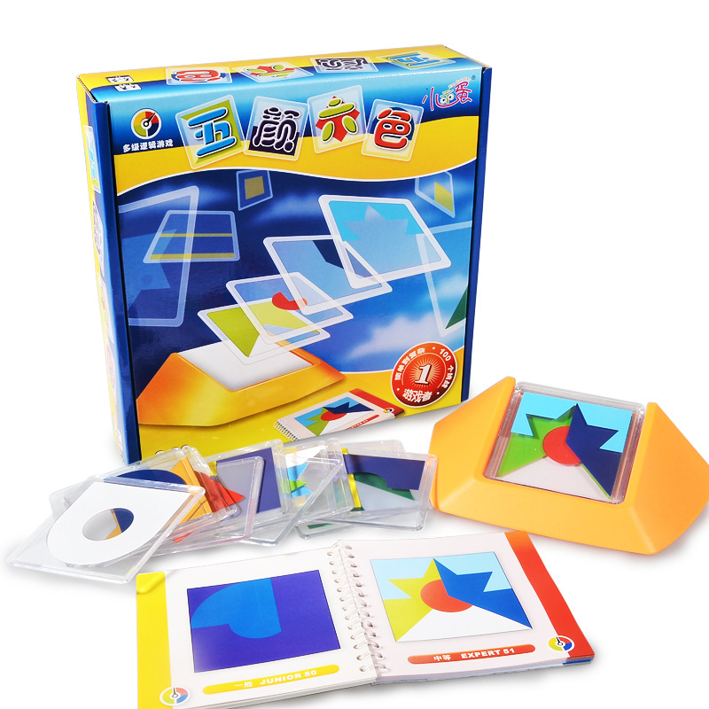 100 défi Code couleur Puzzle jeux Tangram Puzzle conseil jouet enfants développer logique raisonnement Spatial compétences Toy50