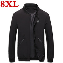 plus size 8XL 7XL jacket men casual baseball Spring Autumn Fashion Men Jacket Thin Jackets Brand Casual Coat Top Quality
