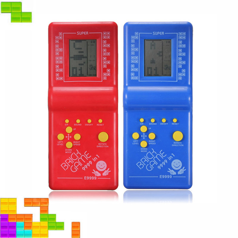 Classic Toys Hand Held LCD Electronic Game Toys Nostalgic Toys Brick Game Tetris Machine For Kids Adults Gifts Presents