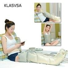KLASVSA Электрический сжатия воздуха ногу массажер для ног вибрации инфракрасной терапии руку талии Пневматика обертывания расслабиться боли