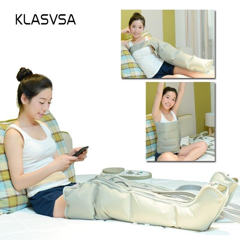 KLASVSA di Aria Elettrica di Compressione Gamba Piede Massager di Vibrazione di Terapia A Raggi Infrarossi Braccio Vita Pneumatic Air Avvolge Relax Sollievo Dal Dolore