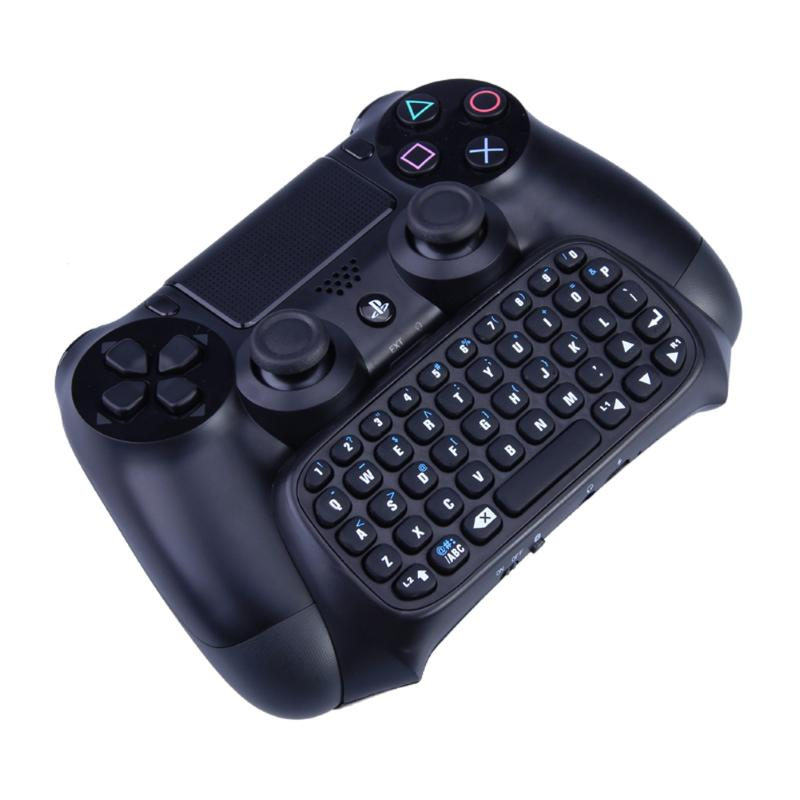 Mutilfunction 2 in 1 Bluetooth Mini Wireless Chatpad Message Keyboard Game Consoles for Sony Playstation 4 PS4 Controller New image